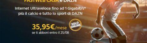 Fastweb e DAZN partnership per lo sport